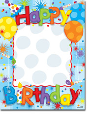 Paper So Pretty - Blank Designer Papers (Big Birthday Fun) (DP1068)